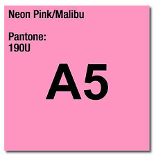 80 gsm A5 Coloraction printer & photocopier paper X 500 sheets NEON PINK MALIBU