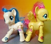 "Coco Pommel + Fluttershy Poseable My Little Pony G4 MLP 3"" Explore Brushable"