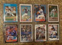 (8) Greg Maddux 1987 Donruss Fleer Sportflics Rookie card lot RC 1988 1989 Upper