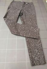 ROBELL Size 12  L29 Stretchy Pull On Bella 09 Ankle Cuff Trousers Leopard  print