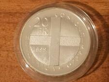 1999 Switzerland silver proof 20 francs coin : 20g : Battle of Dornach