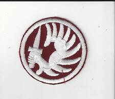 FRENCH FOREIGN LEGION METRO PARA PATCH - WHITE ON MAROON