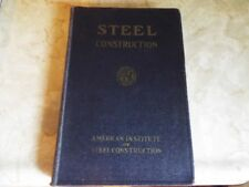 1942 Steel Construction Manual for Architects Engineers Fabricators AISC 4th Ed