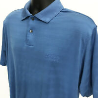 Adidas Climacool Polo Golf Shirt Mens Size L Large Blue Short Sleeve GOLF DIGEST