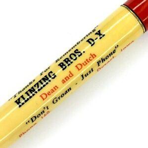 "1940s Dysart IA DX Klinzing Bros Gas Pencil Ritepoint ""Don't Groan, Phone"" G10"