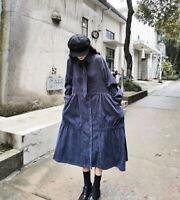 Robe velours ample retro vintage superposition Mori shabby chic boheme Japon