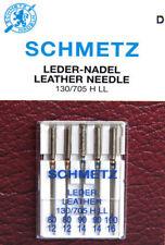 Schmetz LEDERnadel 5 Stück Stärke 80 90 100 130/705 H LL Nadeln