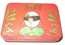 Vintage COCA-COLA Playing Cards 2 Decks COKE Tin Box Two Sealed Pack of Card Set