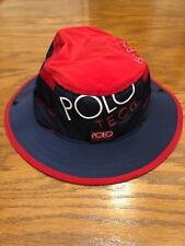 0c9580043bc NWT L XL POLO RALPH LAUREN HI TECH RED BLUE BOONEY HAT BOONIE CAP BUCKET