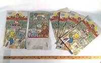 McDonalds 1998 TY Teenie Beanie Babies Lot Of 6  Happy Meal Paper Bags Gift