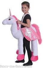 Girls Boys Step in Ride On Unicorn White Horse Animal Fancy Dress Costume Outfit