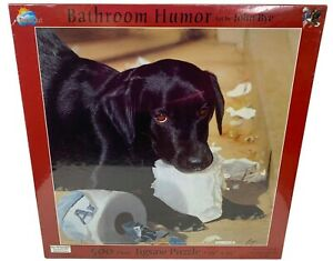 Puzzle Suns Out Black Lab Labrador Puppy Toilet Paper Humor 500 Pieces