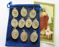 Wholesale Lot 25 New St. Florian Medals, Patron Saint of Firefighters, 2nd Style