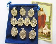 Wholesale Lot 10 New St. Florian Medals, Patron Saint of Firefighters, 2nd Style