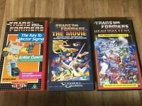 Transformers Animated Movie VHS Films X 3