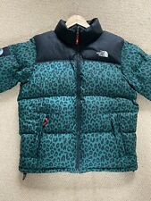 Supreme x North Face Green Leopard Large FW11 OG Nuptse Down Jacket The TNF 700