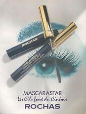 ▬► PUBLICITE ADVERTISING MASCARASTAR Rochas mascara maquillage yeux  1994