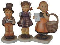 3 Vintage Goebel MI Hummel Figurines Meditation Which Hand Street Singer TMK-5