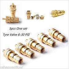 5pcs 4WD Automatic 4x4 Off-Road Tyre Tire Deflators Adjustable 6-30PSI Brass Kit