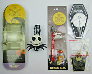 Disney Nightmare Before Christmas Jack Skellington Pin Fob Watch and Zero Item