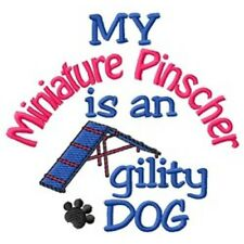 My Miniature Pinscher is An Agility Dog Short-Sleeved Tee - Dc2014L