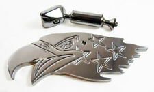 Polished Alum Patriotic Eagle Interior Rear View Mirror Street Rod Chevy Ford