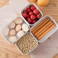 Unisex Portable Food Container For Kitchen Microwave-Heated Lunch Box HS