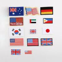 Small Country Nation Flag Embroidered Patch Sew Iron on Badge Hotfix Appliques