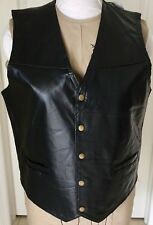 Giovanni Navarre® Mosaic Leather Vest Black Size Large New