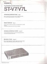 Manual usuario SONY ST-V7/V7L [sintonizador estéreo] FOTOCOPIAS
