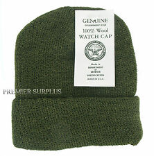 Genuine and Original US Olive Green Wool Watch Cap, Bob Hat, NEW