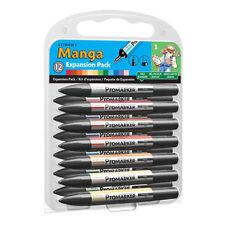 Letraset Promarker - Manga Expansion Pack 1 (12 colours + Blender) - MEP1