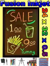 24 x 32 LED WRITING BOARD menu Flashing Fluorescent sign neon 8 pens message