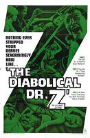 The Diabolical Dr Z - Miss Muerte (1966) Cult Horror movie poster print 2
