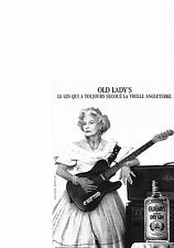 PUBLICITE ADVERTISING  1989   OLD LADY'S   dry Gin