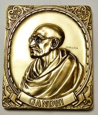 MAHATMA GANDHI - Bapu Indian Leader BIG 8 OZ Bronze Art Bar SUPER RARE