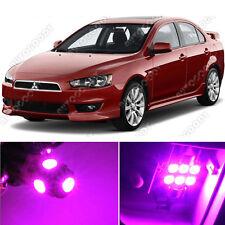 8 x Premium Hot Pink LED Lights Interior Package Kit for Mitsubishi Lancer
