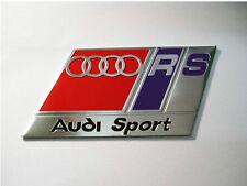 NEW Brushed Aluminium Audi Sport RS Car Badge TT