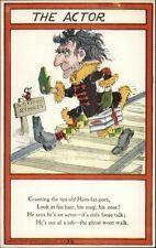 Vinegar Valentine The Actor - Poem c1905 Postcard