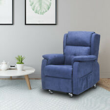 Recliner Chair Lounge Fabric High Back Sofa Living Room Home Furniture Blue New