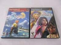 PS2 Game Lot - FINAL FANTASY X & FINAL FANTASY X-2 EXCELLENT!!