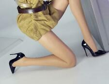 Custom Black High-heel Shoes Model For 1/6 Scale Female TBLeague Doll Figure