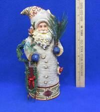 Santa Figurine Tree Shape Woodsman Colored Sled Greenery Glitter Critters Resin