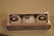 NIB GEORGIA BULLDOG 3 PACK COLLEGIATE GOLF BALLS