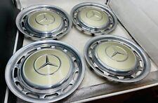 4x Mercedes 14 Zoll Radkappen W123 W113 W114 W116 881 SILBER DISTEL METALLIC 41