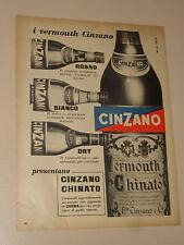 CINZANO CHINATO VERMOUTH BEVANDA=ANNI '50=PUBBLICITA=ADVERTISING=WERBUNG=444