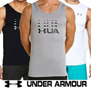 Under Armour Mens Vest UA Sports Sleeveless Gym Fitness Running Polyester Top
