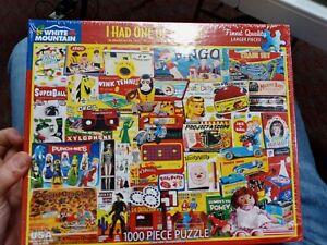 White Mountain Puzzles I Had One Of Those! Vintage Toys 1000 Piece Jigsaw Sealed