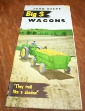 John Deere Big 3 Rubber-Tired Farm Wagons Brochure 943 953 963 1953!