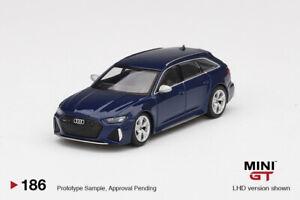 Mini GT 1:64 Audi RS 6 Avant Navarra Blue Metallic